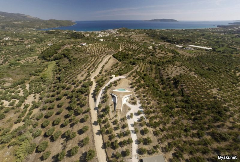 Летняя современная вилла в Греции
