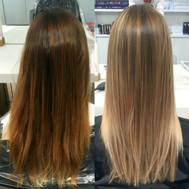 Мелирование на коричневый волос
