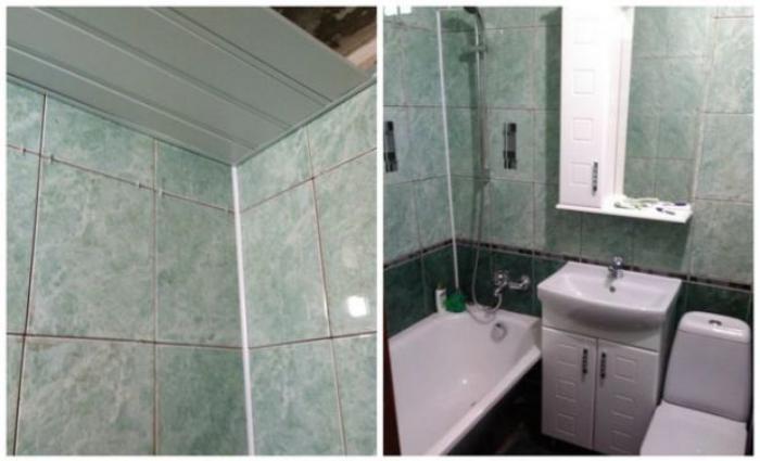 Мужчина решил сделать подарок для матери и своими руками выполнил ремонт в ванной комнате её квартиры