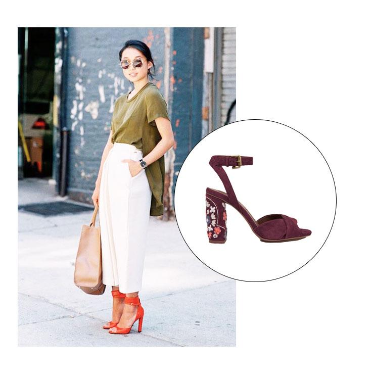 С какой обувью носить укороченные брюки?