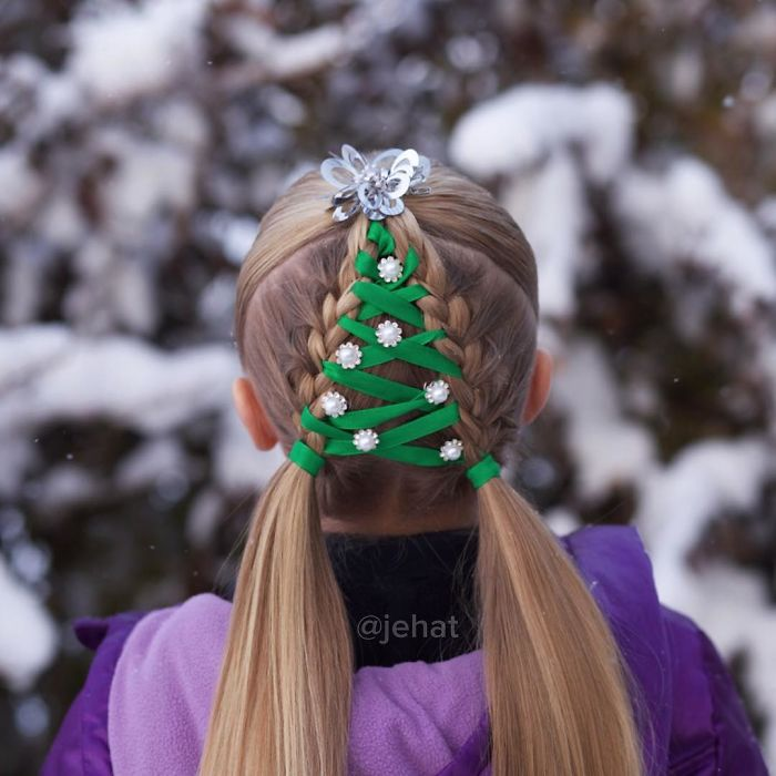 10+ Of The Most Creative Christmas Hairstyles Ever