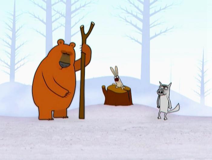 Идёт Волк по лесу, видит — Заяц без ушей. Волк: