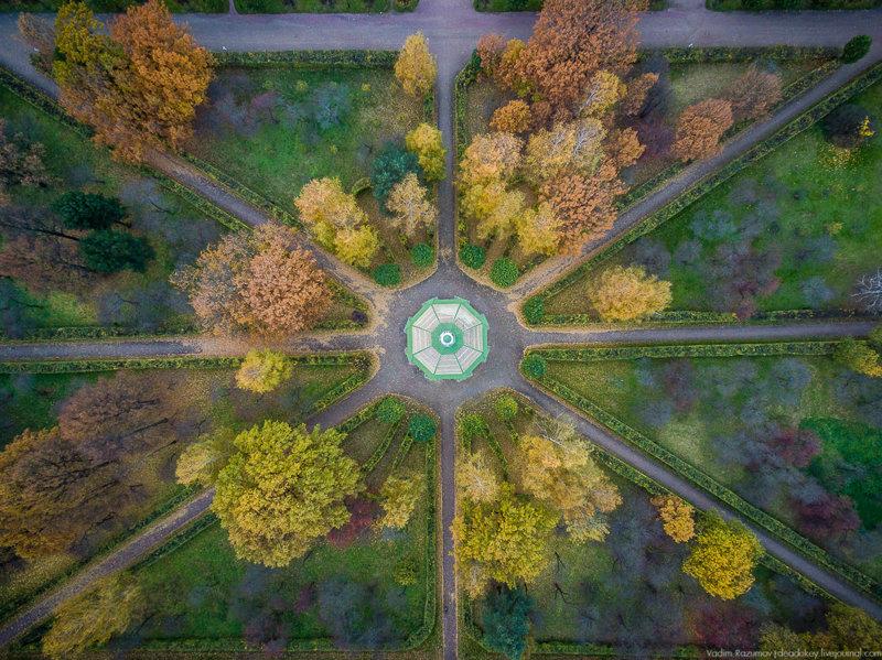 Осеннее КУСКОВО с высоты птичьего полета Кусково, факты, фото