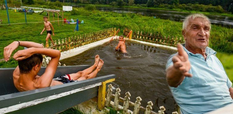 Как власти заставляют пенсионера снести сельский аквапарк, построенный для всей деревни