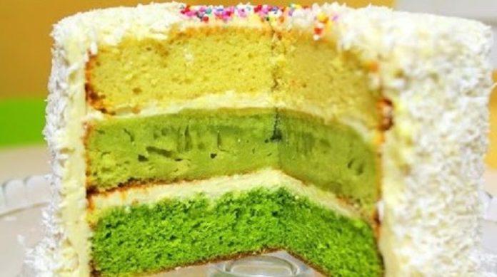 Очень вкусный разноцветный торт «Елочка»