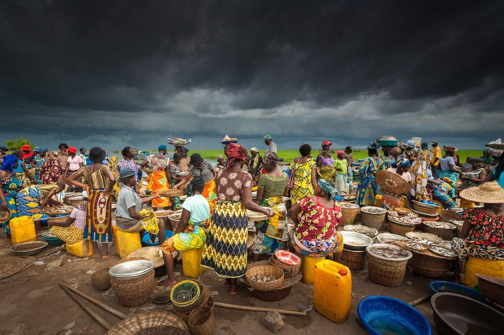Рынок в Бенине, Западная Африка