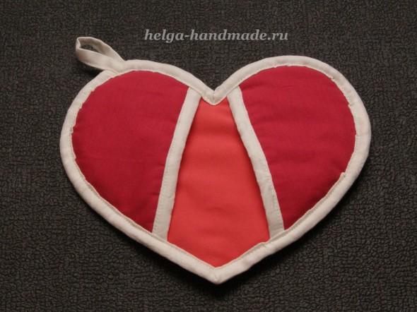 Прихватки в виде сердца
