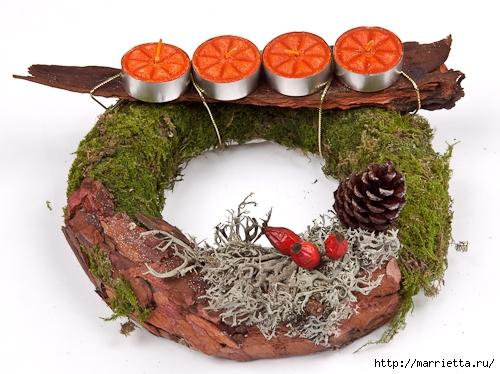 рождественский венок из грецких орехов (24) (500x374, 167Kb)