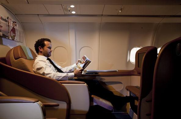 Составлен портрет пассажира, летающего бизнес классом