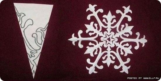 Снежинки из бумаги -4