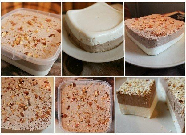 Ванильно - шоколадный творожный десерт