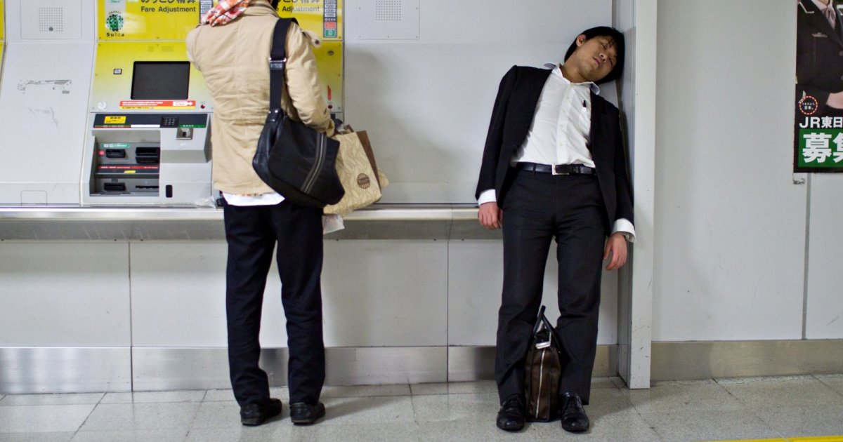 Tragicomical Life Of The Japanese Businessmen That I Captured While Traveling In Japan