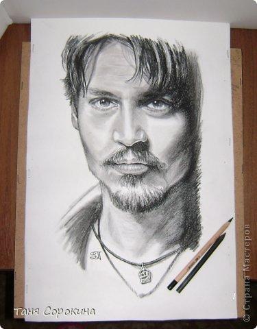 Картина панно рисунок Рисование и живопись Портрет в черно-белом Пастель уголь Пастель фото 3