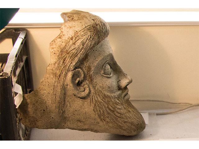 В районе Крымского моста нашли древнюю терракотовую голову