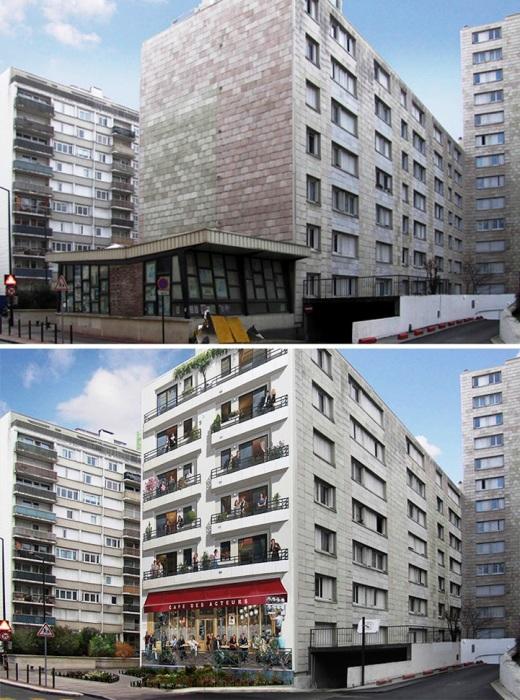 Торцевые стены современных многоэтажных домов тоже обрели новых «жильцов» (Patrick Commecy & A.Fresco). | Фото: mymodernmet.com.