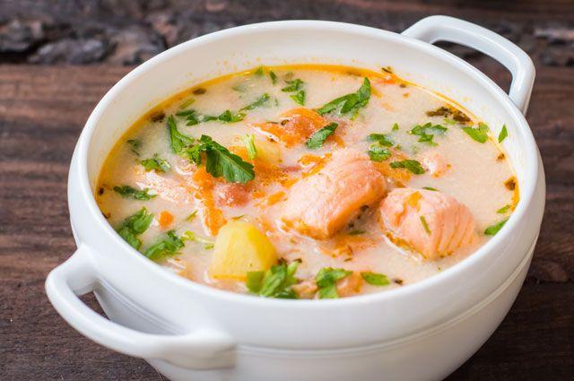 Вкуснейший сливочный рыбный суп