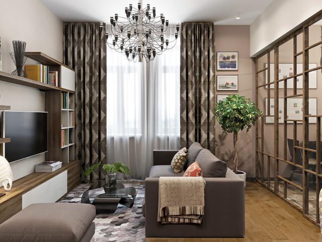 Дизайн интерьера гостиной в хрущевке: 2 лучших стиля