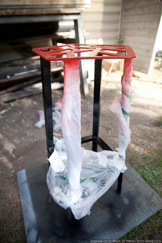 Барный стул из металла своими руками 38