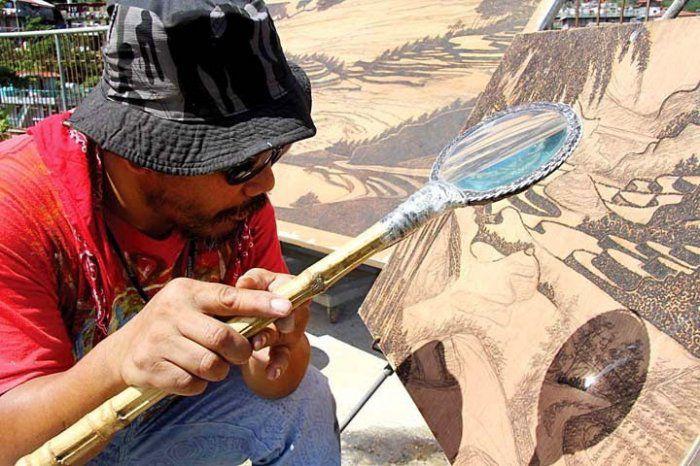Солнечная пирография необычное, искусство