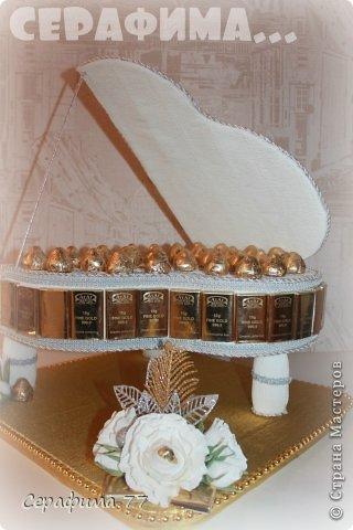 Мастер-класс Свит-дизайн 23 февраля 8 марта День рождения Свадьба Моделирование конструирование СВАДЕБНЫЙ РОЯЛЬ + МК Бумага гофрированная Продукты пищевые фото 8