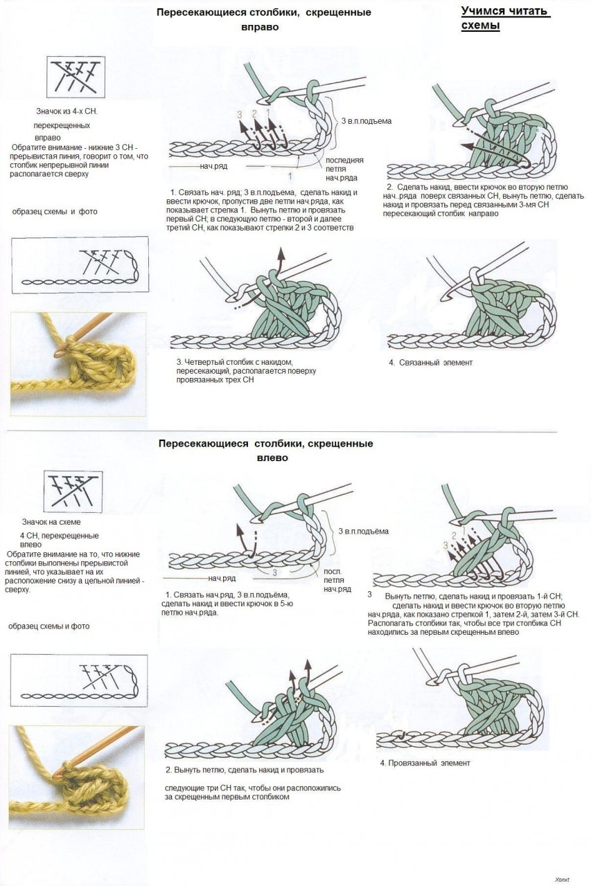 Схема крючка с накидом фото 1000