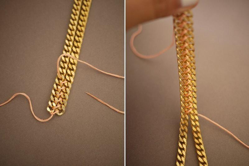 Как сделать украшение цепочка