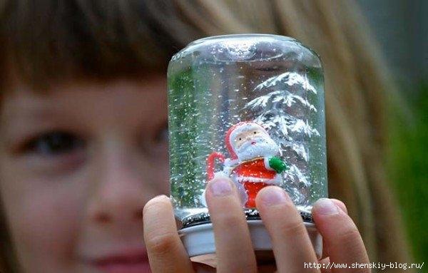 САМОДЕЛКИ. Стеклянный шар с падающим снегом