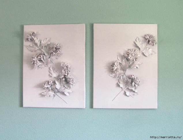 Цветы из гипса. Шикарно и очень просто