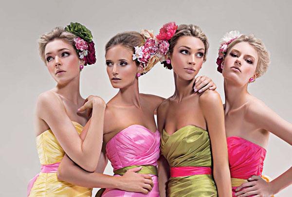 Фотосессия нескольких девушек