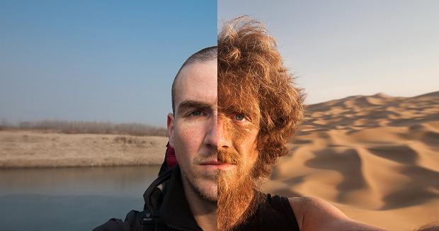 Как изменилась внешность туриста за 1 год