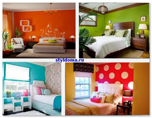 Модные цвет стен в спальне