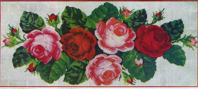 """Схема для вышивки крестом """"Розы"""""""