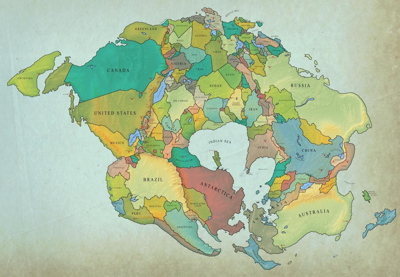 Предполаемый вид Земли через 250 миллионов лет