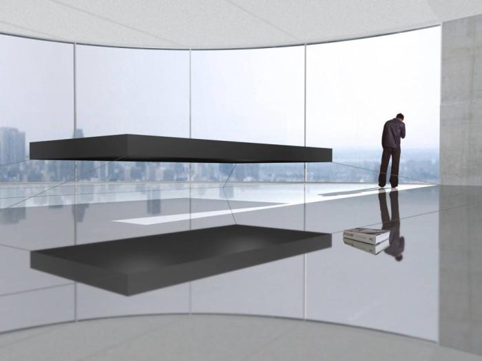 Кровать, парящая в воздухе, от Janjaap Ruijssenaars.