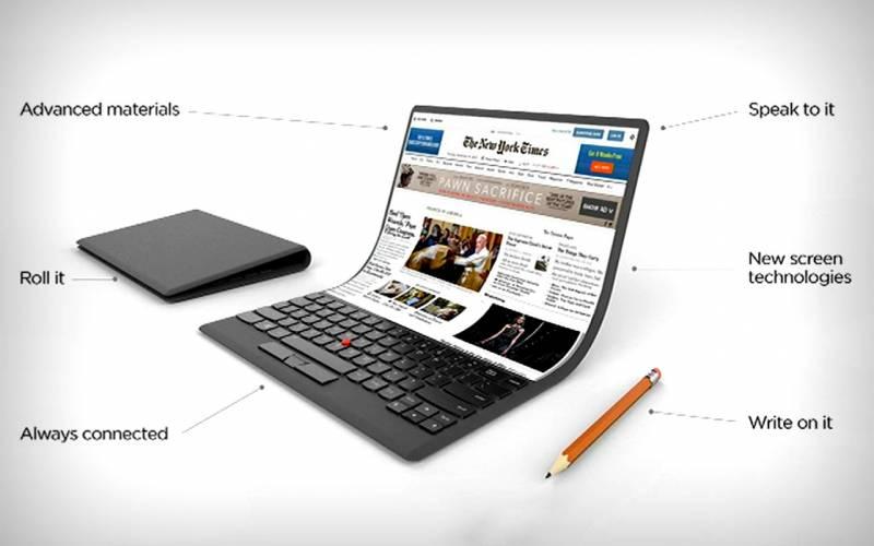 Lenovo трудится над первым в мире гибким ноутбуком