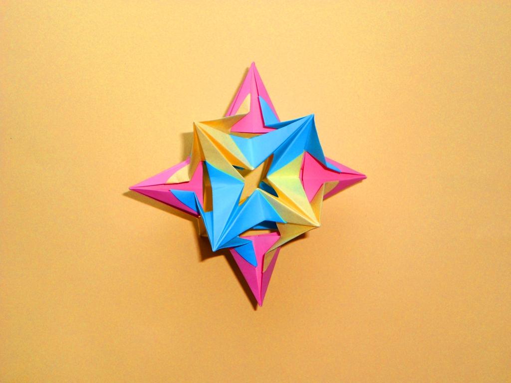 3D Оригами кусудама звезда М…