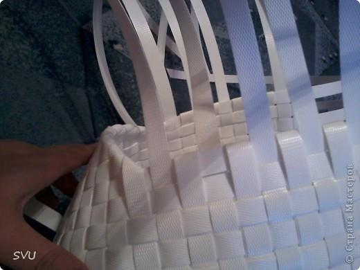 Мастер-класс Плетение Плетение корзинки из упаковочной полипропиленовой стреппинг ленты Полиэтилен фото 31