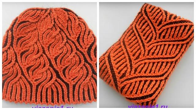 Как связать шапку и шарф мастер класс
