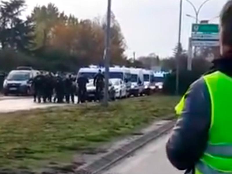 Французская полиция помешала…