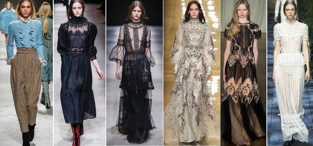 викторианский стиль, ромнтичный стиль, мода 2019