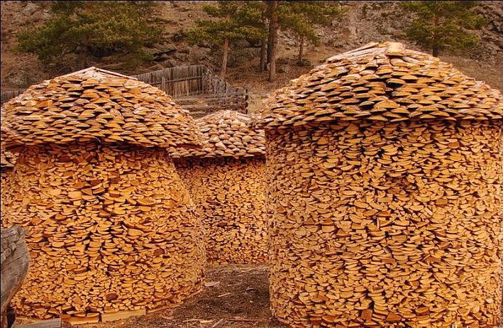 Если человек эстет, то и дрова можно сложить красиво!