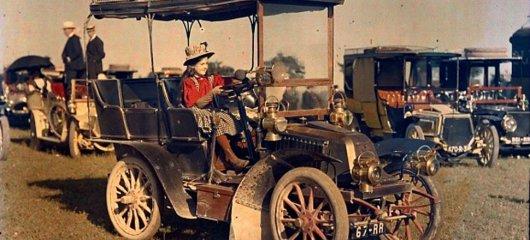 Это самая первая цветная фотография автомобиля