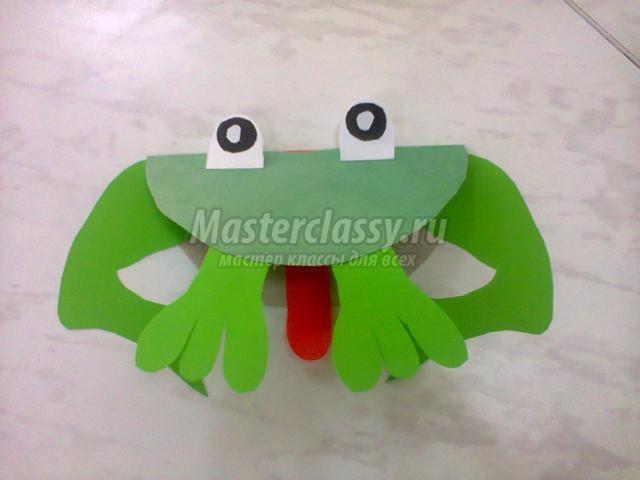 Подделки из бумаги лягушка