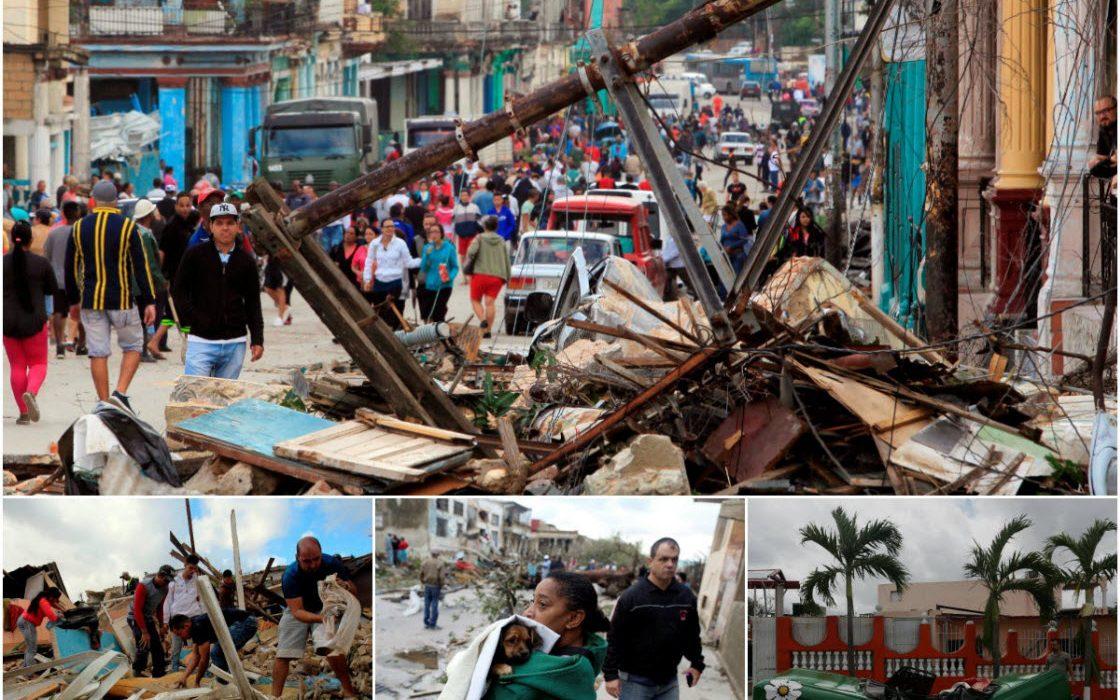 Последствия торнадо в Гаване
