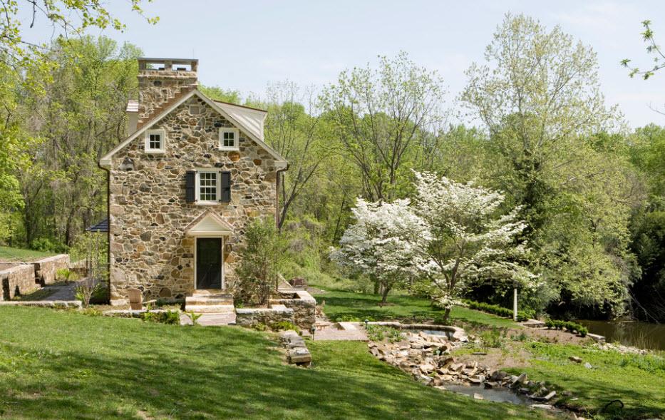 Облицовка дома камнем - 100 фото реализованных проектов