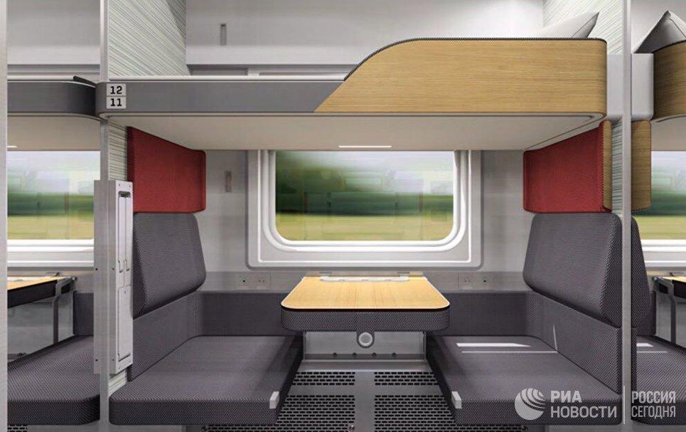 Стало известно, как будет выглядеть новый плацкартный вагон РЖД