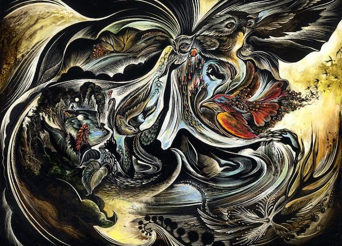 Вечное «противоборство» мрака и света: рисунки, выполненные в технике scratchboard