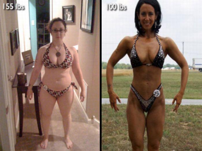 фото людей до и после родов
