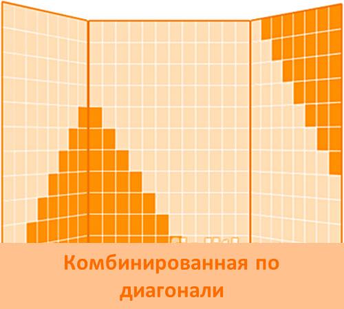Комбинирование плитки по диагонали