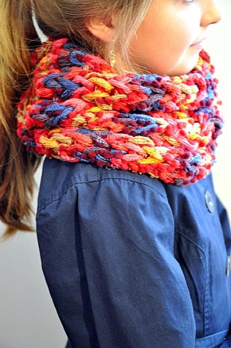 Самый простой шарф своими руками